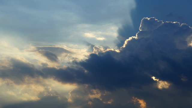 timelapse clouds cumulonimbus before the twilight - altocumulus stock videos and b-roll footage