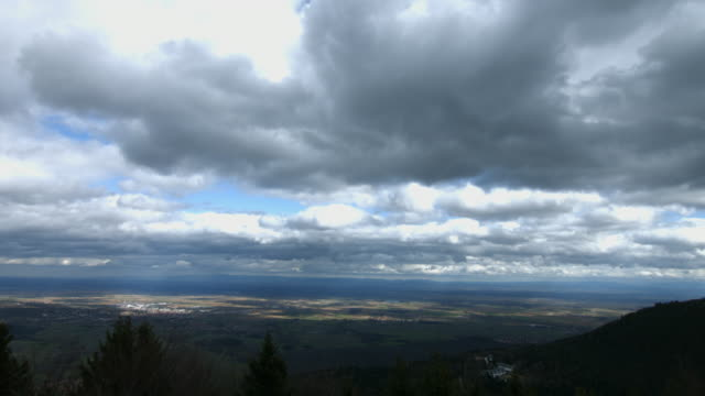Timelapse: clouds moving over the valley