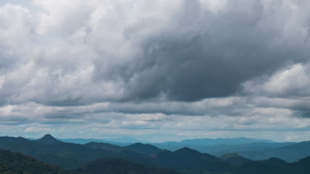 Timelapse clouds over the mountains.