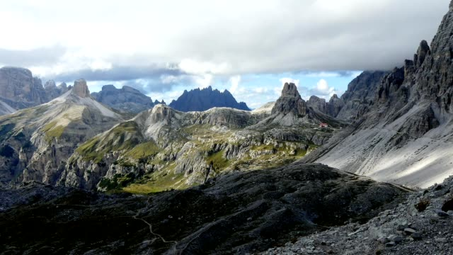 timelapse clouds over tre cime - tre cimo di lavaredo stock videos & royalty-free footage