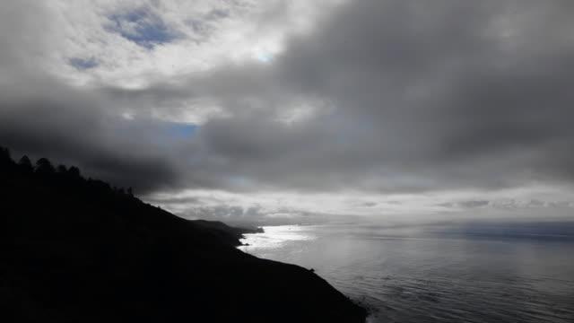 vídeos y material grabado en eventos de stock de time-lapse: clouds passing above beach - sobre