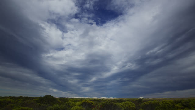 'Timelapse clouds scud overhead, South Africa'