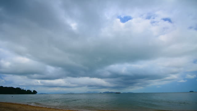 time-lapse: clouds storm over the sea - full hd format stock videos & royalty-free footage