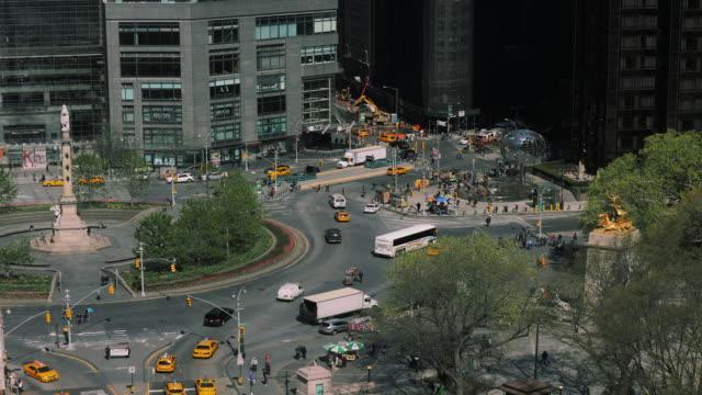 timelapse columbus circle noon new york - columbus circle stock videos & royalty-free footage