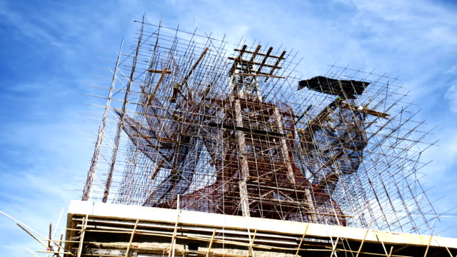 timelapse: construction project in action - complete stock videos and b-roll footage