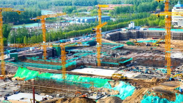 Time-lapse construction site