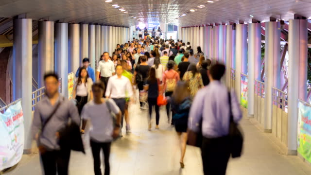 HD Time-lapse: Crowd at Metro Station for Modern City Life Background