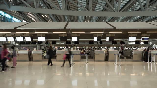 timelapse crowd people airport - control stock videos & royalty-free footage