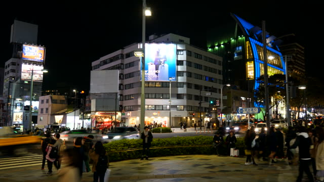 timelapse crowd people at Harajuku in Tokyo