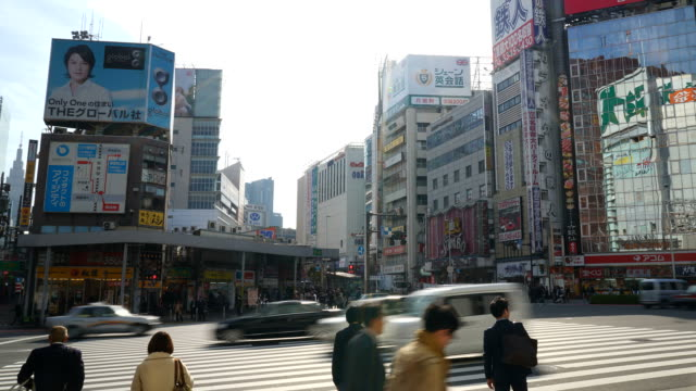HD timelapse crowd people at Shinjuku in Tokyo
