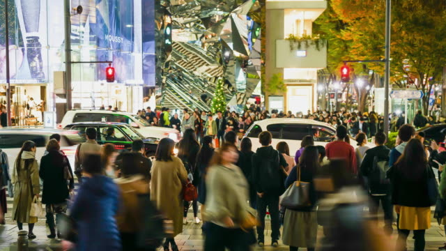 timelapse crowded people at Harajuku  in Japan