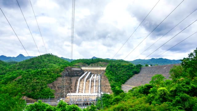 time-lapse: dam to store water and generate electricity. - boulder stock videos & royalty-free footage