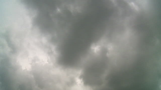 Time-Lapse: Dark Clouds Moving in Sky