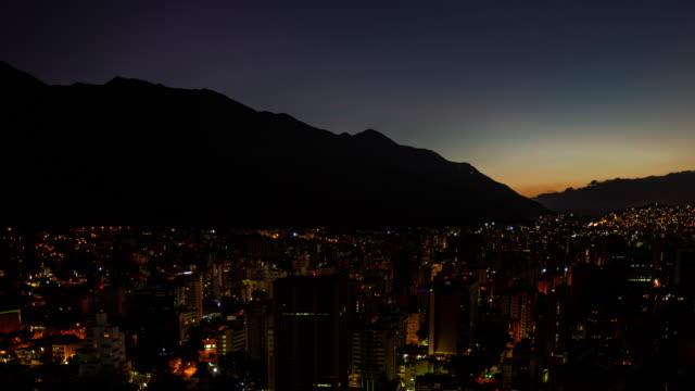 timelapse - dawn over caracas - caracas stock videos & royalty-free footage