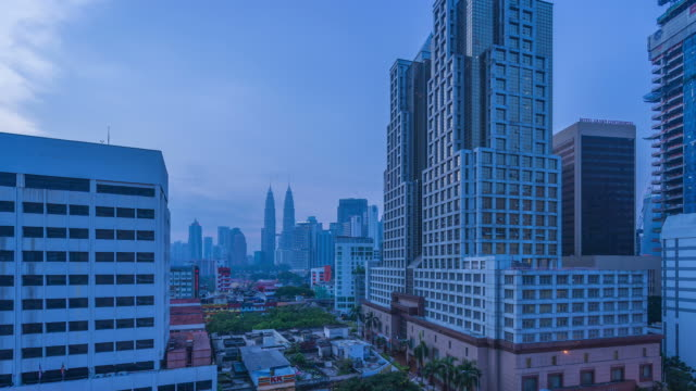 HD time-lapse : Dawn to Day time-lapse of City KL , Malaysia