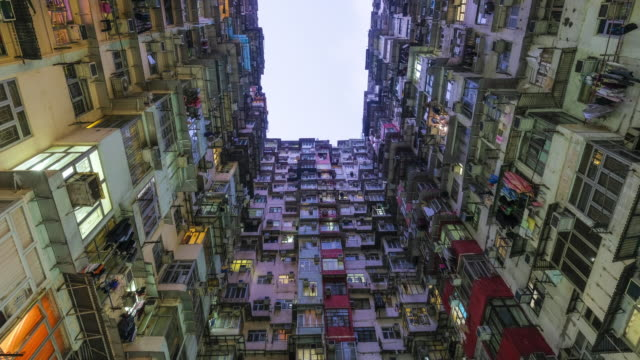Time-lapse Day and night Buildings, Quarry Bay, Hong Kong