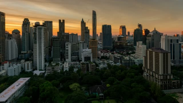 timelapse day to night of bangkok skyline - day to sunset stock videos & royalty-free footage