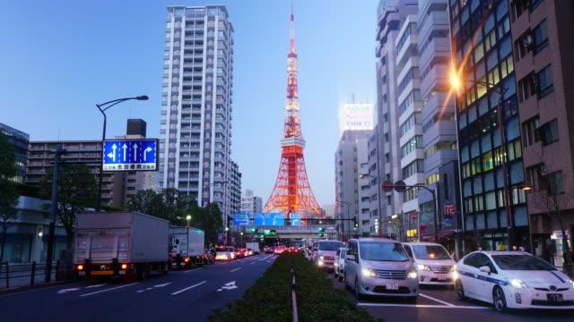 Zeitraffer-Tag und Nacht von Tokyo Tower