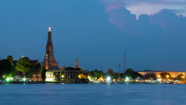 4K Time-lapse Day to night: Wat arun in evening.