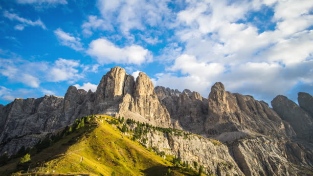 Timelapse: Dolomites mountain at Sunset