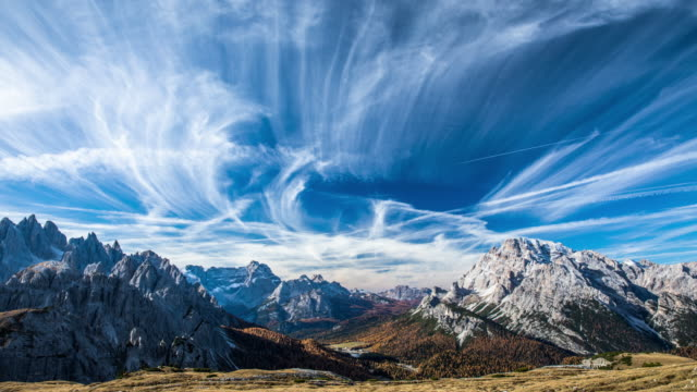 timelapse: dolomites mountains in the european alps - alps stock videos and b-roll footage