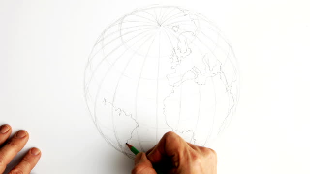 timelapse drawing the earth.   co - longitude stock videos & royalty-free footage