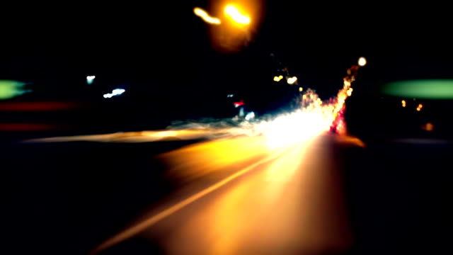 Timelapse - driving through a city