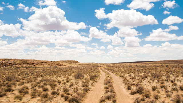 Timelapse POV driving through the Karoo on a dirt road