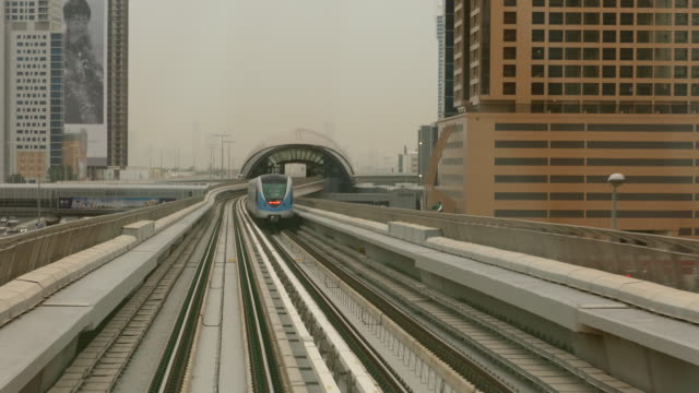 4k timelapse dubai metro - monorail stock videos and b-roll footage