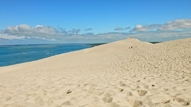 time-lapse: dune de pilat, france, in summer - dune of pilat stock videos and b-roll footage