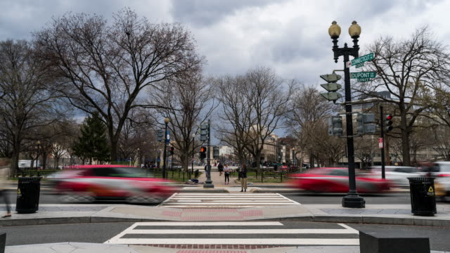 time-lapse: dupont circle washington dc downtown usa - dupont circle stock videos & royalty-free footage