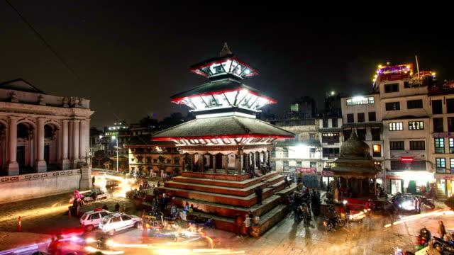 timelapse durbar square, katmandu, nepal - kathmandu stock videos & royalty-free footage