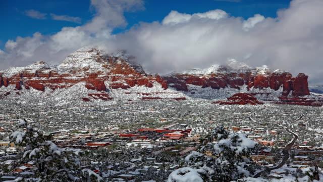 Time-lapse during winter, Sedona, Arizona