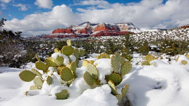 time-lapse during winter, sedona, arizona - sedona stock videos & royalty-free footage