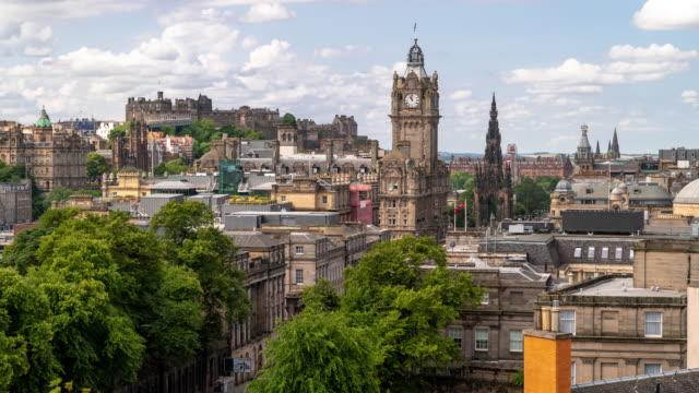 Time-lapse: Edinburgh Cityscape Scotland UK
