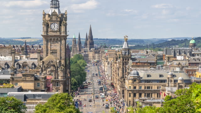 Time-lapse: Edinburgh Cityscape Scotland UK
