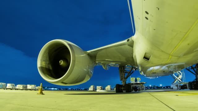 Time-lapse : Avion moteur