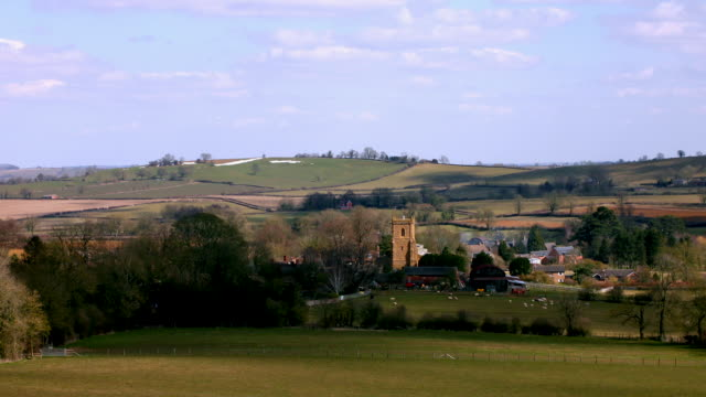 timelapse english village in a valley - community stock videos & royalty-free footage