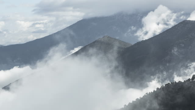 Time-lapse Fog and Clouds On Mountains