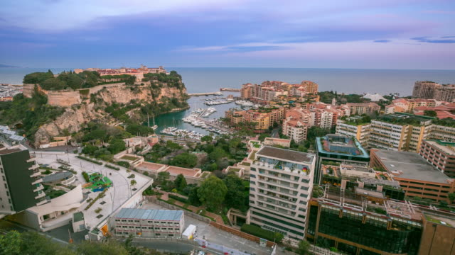 Time-lapse: Fontvieille and Rock of Monaco French Riviera