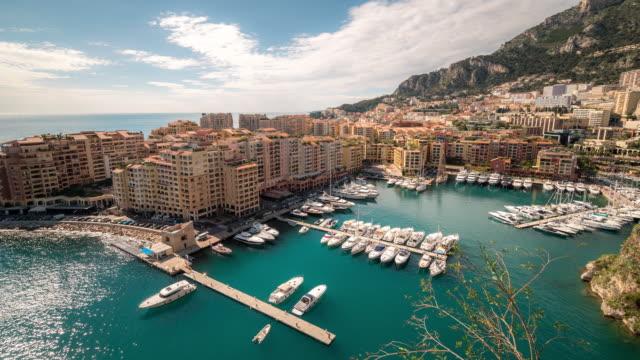 time-lapse: fontvieille monaco monaco french riviera - monaco stock videos and b-roll footage