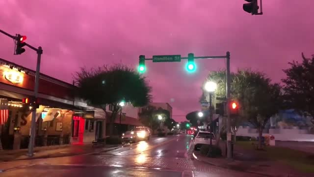 stockvideo's en b-roll-footage met timelapse footage captured hurricane michael clouds above downtown lake city, florida, just hours after the storm made landfall on october 10.... - https
