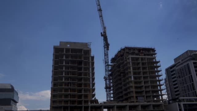 Timelapse footage of a building under construction in Toronto Ontario Canada on June 24 2017