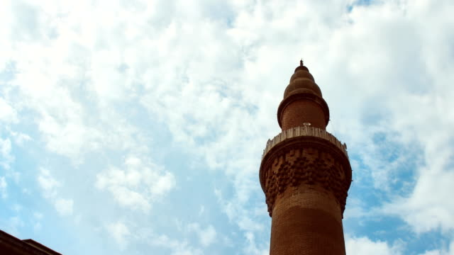 4K Timelapse footage of a mosque and minaret