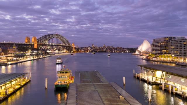 timelapse footage of circular quay, sydney, nsw, australia - opera house stock videos & royalty-free footage