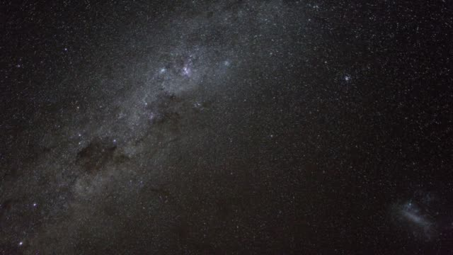 timelapse footage of the milky way in the southern hemisphere, rotating during the course of a night. - southern hemisphere stock videos & royalty-free footage