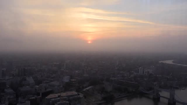timelapse footage of the sun rising over london on summer solstice as seen from the uk's highest building the shard - summer solstice stock videos and b-roll footage