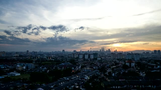 Timelapse For Sunset In Kuala Lumpur