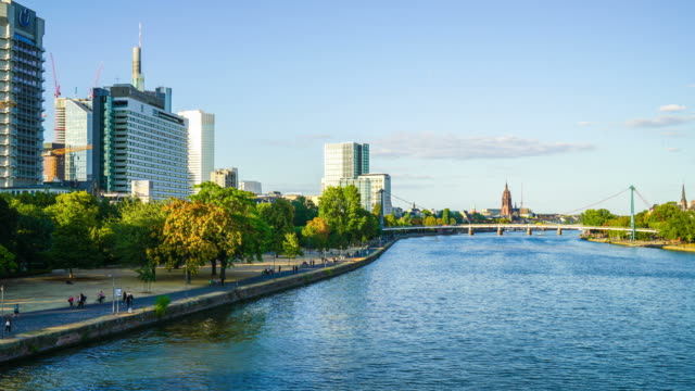 timelapse Frankfurt am Main in Duitsland