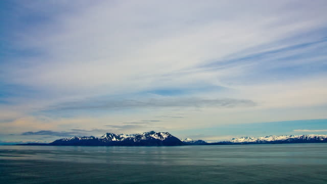time-lapse from a cruise ship in prince william sound, alaska. - prince william sound stock videos and b-roll footage